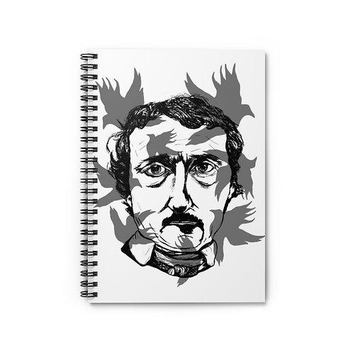 Poe & Ravens Spiral Lined Journal