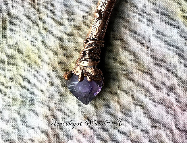 Witchy Amethyst Wand Necklaces by Merging Metals