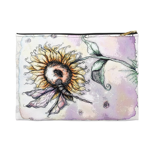 Everglow Sunflower & Dragonfly Accessory Pouch