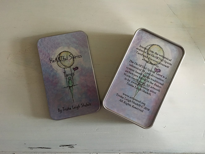 HeARTful Spirits Tarot No Hints Tin Box Version