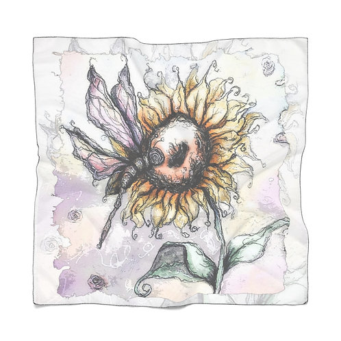 Everglow Dragonfly & Sunflower Scarf