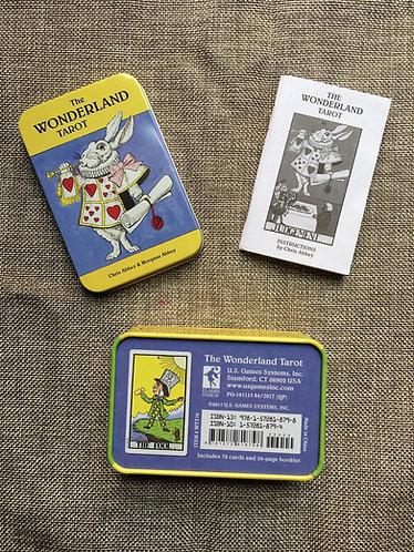 Alice in Wonderland tarot in a tin