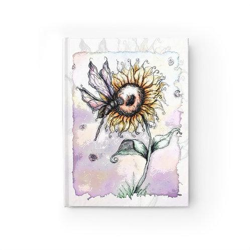 Everglow Sunflower & Dragonfly Journal - Blank