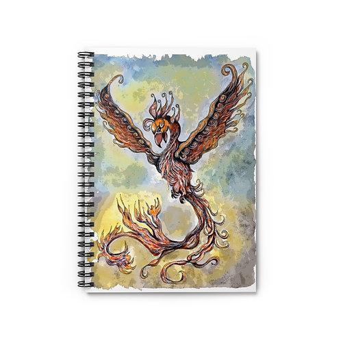 Phoenix Rising Spiral Lined Journal