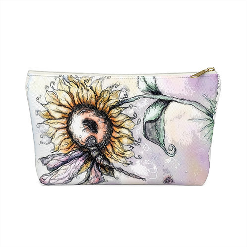Everglow Sunflower & Dragonfly Pouch