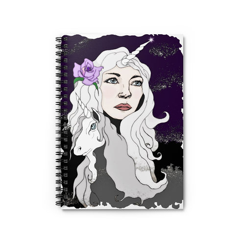 Unicorn Queen Spiral Notebook - Ruled Line