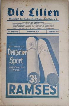 Monatsschrift des DSV Guts Muts mit Zigarettenwerbung
