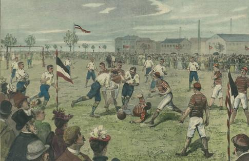Spielszene aus einer Partie des Dresden English Football Clubs in Berlin