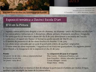 """Exposición colectiva """"El Vi en la Pintura"""" en Davinci escola d'art. Barcelona."""