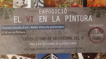 """Inauguración Exposición """"EL VI EN LA PINTURA"""" en Catedral del vino Alella Vinícola, en Alella."""