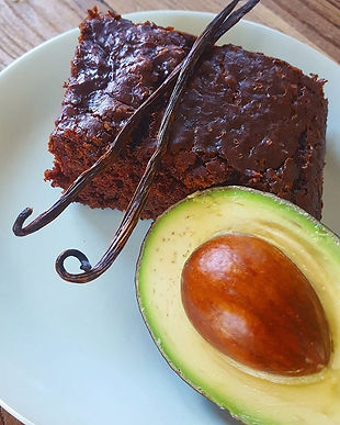My first vegan cake ..chocolate avocado.