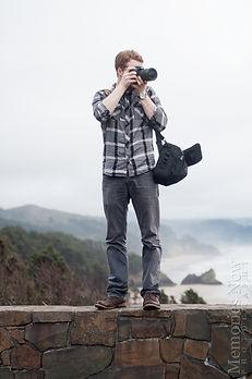 Michael photographs a landscape