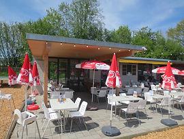 Photo de la terrasse du Camping TCS de Delémont