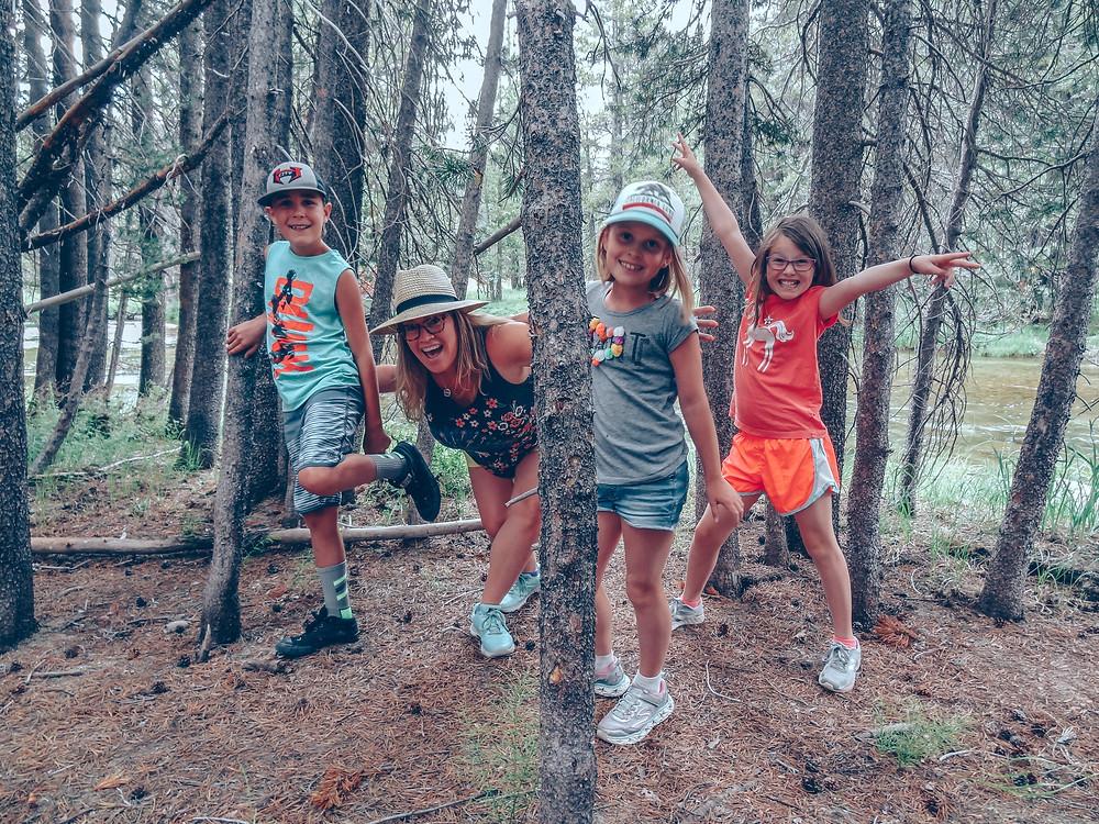 Shinrin-yoku, or forest bathing, in Yosemite National Park - family wellness travel