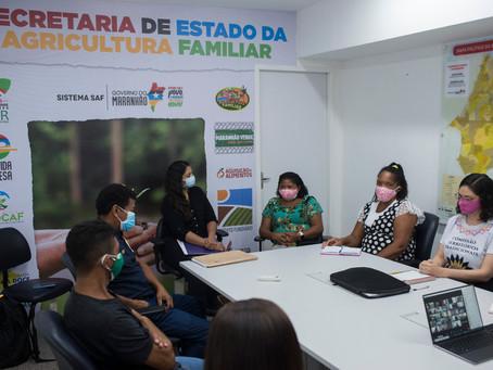 """""""Nós queremos o território livre"""": MIQCB e quilombolas de Sesmaria do Jardim se reúnem com a SAF."""