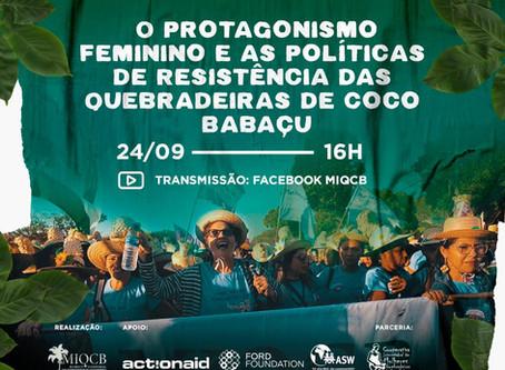 Mulheres preparam live para o Dia Estadual da Quebradeira de Coco Babaçu
