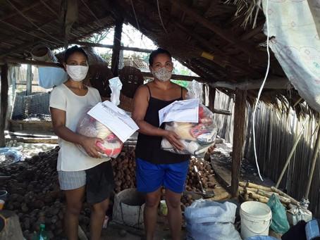 Solidariedade e alimento: MIQCB e ActionAid doam cestas agroecológicas