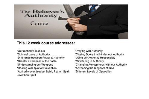 Believer's Authority Workbook