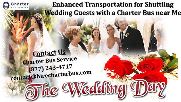 Enhanced Transportation for Shuttling Wedding Guests with a