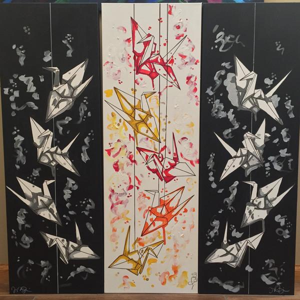 Paper Crane Trio