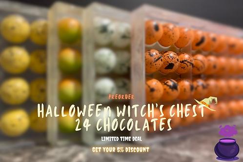 Halloween Witch's Chest 24 chocolates