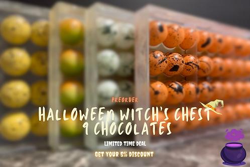 Halloween Witch's Chest 9 Chocolates
