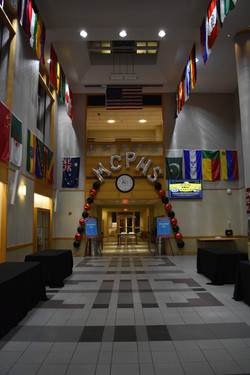 Latex-free Indoor Balloon Arch for MCPHS in Boston, MA by Eye Candy Balloons