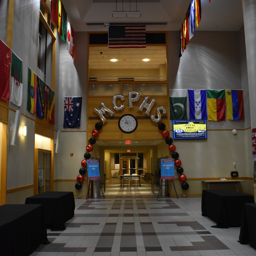 Latex free balloon arch for MCPHS - Eye Candy Balloons