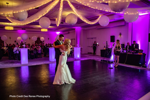 Wedding Balloons and Ceiling Decor at Event Center Nashua by Eye Candy Balloons