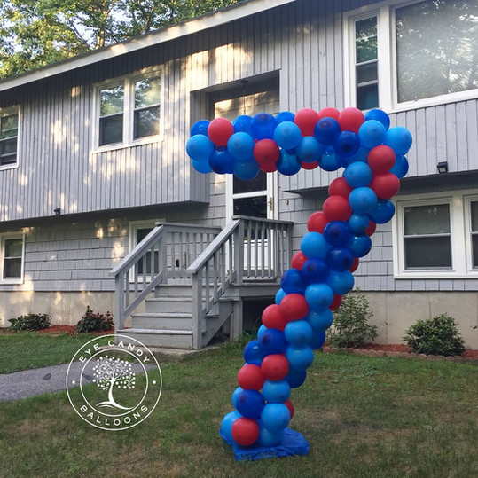 Outdoor Balloon Numbers for Birthday Celebrations at Eye Candy Balloons