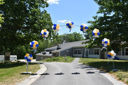 Drive-through Graduation Balloon Arch   Dunbarton Elementary School   Eye Candy Balloons