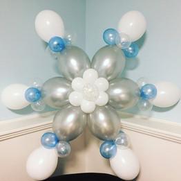 Winter snowflake balloon decorations New Hampshire