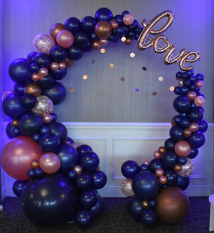 Organic Balloon Hoop Arch at Manchester Country Club by Eye Candy Balloons