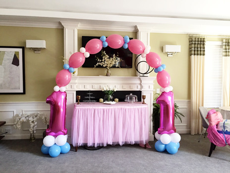First Birthday Balloon Arch by Eye Candy Balloons
