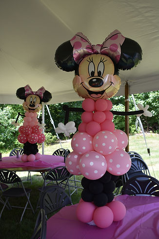 Minnie Mouse Balloon Sculpture for Minnie Mouse Birthday Party in Bedford, NH by Eye Candy Balloons