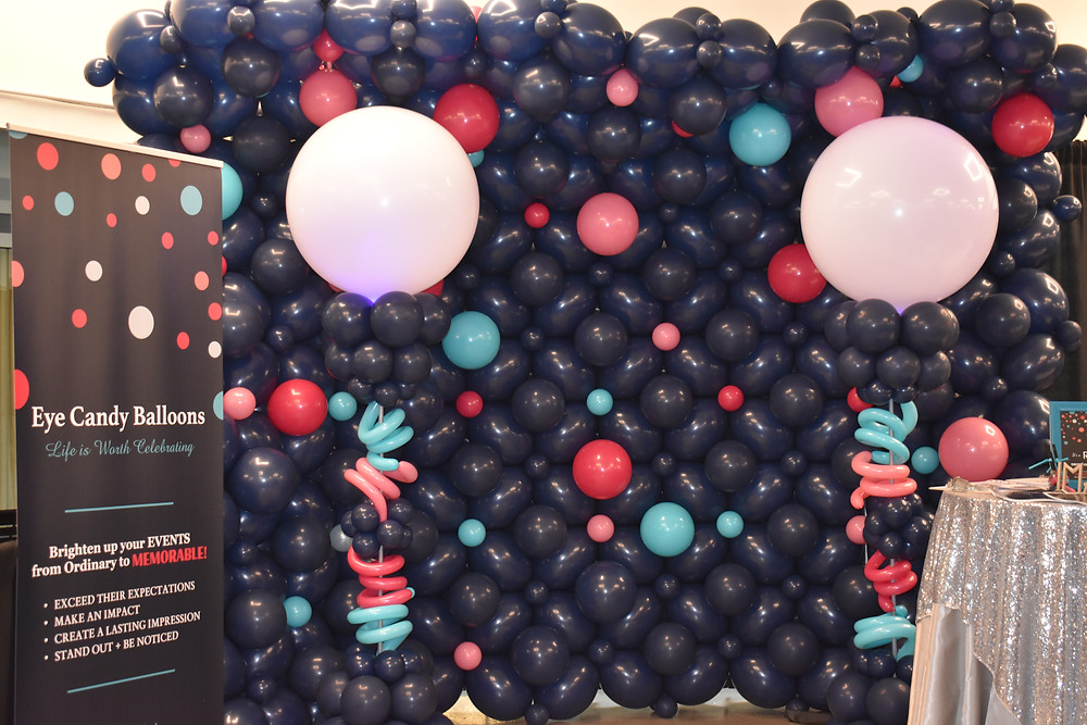 Eye Candy Balloons Manchester NH Balloon Expo Booth, Balloon Decorations, Corporate Balloons