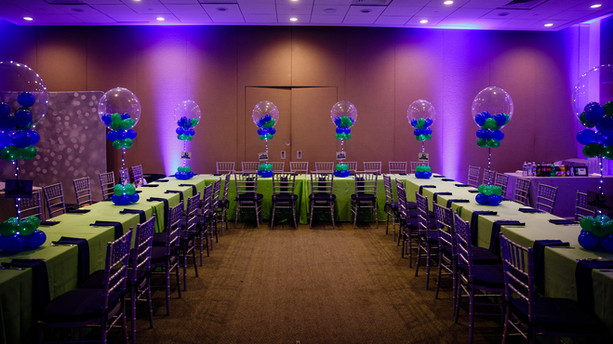 Bar and Bat Mitzvah Kid Table Balloon Centerpieces in Needham, MA by Eye Candy Balloons