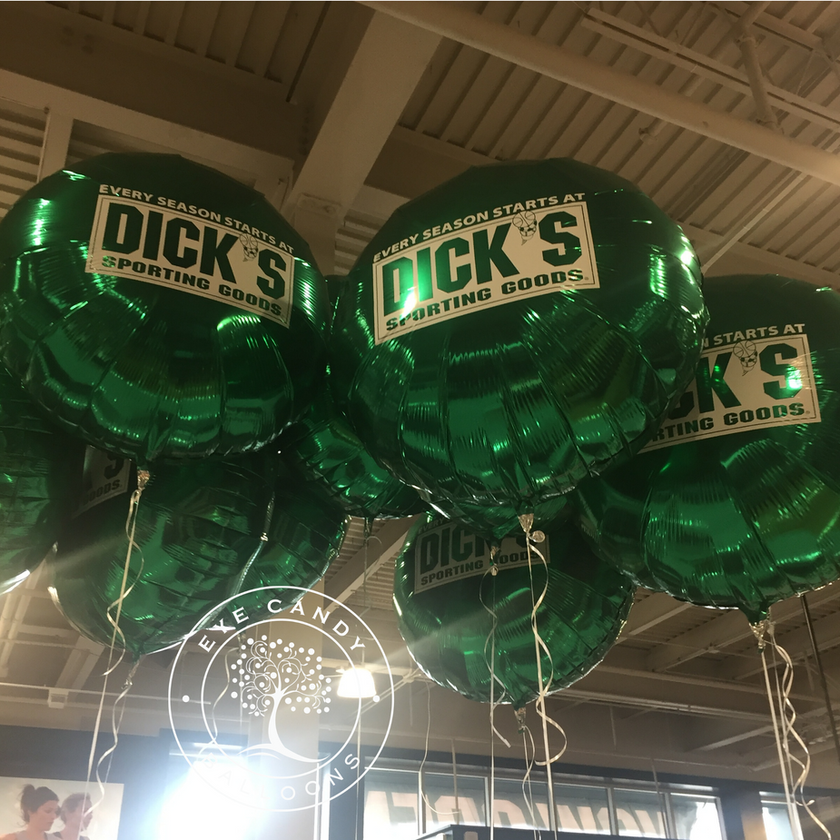 Latex-free Balloons for Dick's Sporting Goods - Eye Candy Balloons