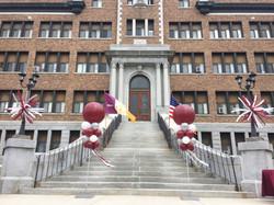 Outdoor Graduation Balloon Columns   Presentation of Mary Academy   Eye Candy Balloons
