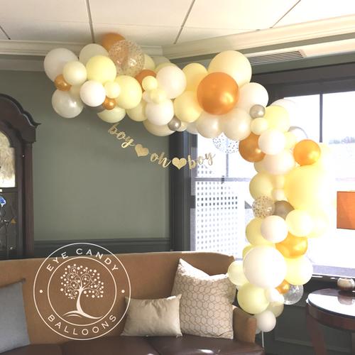 Organic Balloon Garland for Baby Shower at Eye Candy Balloons