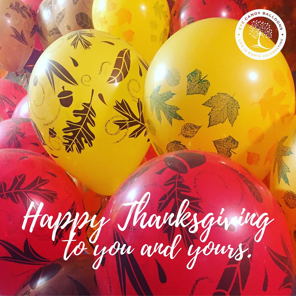 Thanksgiving Fall Helium Balloon Decor