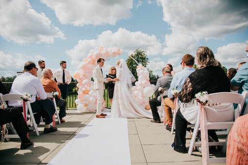 Wedding Balloon Arch Ring at Manchester Country Club by Eye Candy Balloons