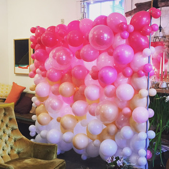 Organic Balloon Wall Backdrop Ombre Style by Eye Candy Balloons