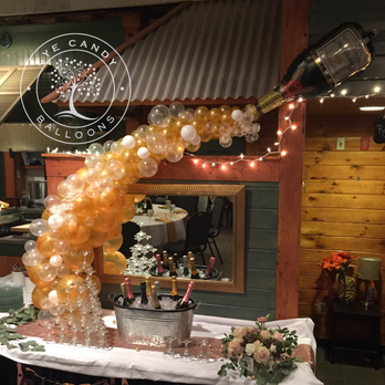 Champagne Balloon Decorations by Eye Candy Balloons
