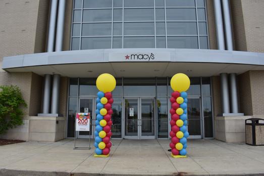 Corporate Balloon Columns | Macys NH | Eye Candy Balloons
