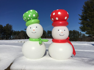 Balloon Snowmen Winter Decorations New Hampshire