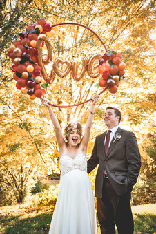 Wedding Balloon LOVE Hoop in Manchester, NH by Eye Candy Balloons