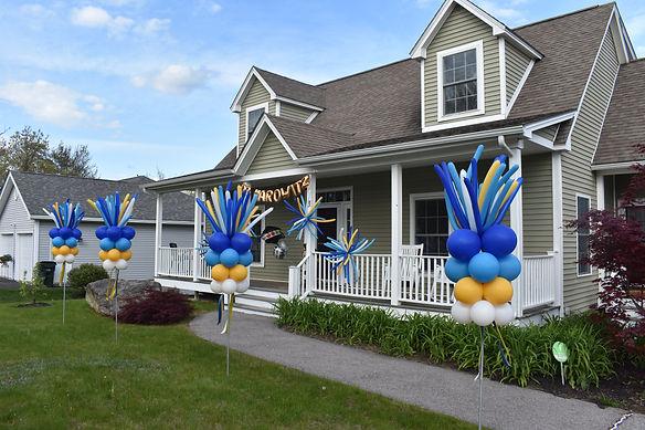 Firework Balloon Column Decorations | Eye Candy Balloons in NH