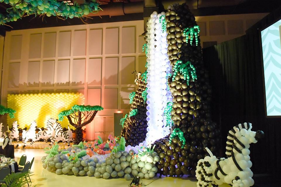 Balloon Safari Theme - Balloon Waterfall