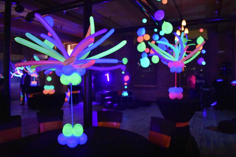 Blacklight Birthday Party Balloons at Eye Candy Balloons